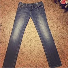 Miss Me Skinny Jeans Miss Me Skinny Jeans 31. Great condition. In picture 3 there's a tiny tear. Not really a tear but maybe becoming a little hole. Miss Me Jeans Skinny
