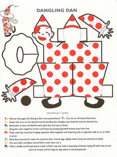 vintage paper circus clown! by shelece, via Flickr