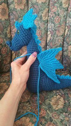 dragon amigurumi wing 2