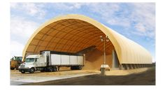 Fabric Buildings by Natural Light Fabric Structures - Salt storage, sand storage, flat grain storage, livestock buildings, dairy barns, warehousing, temporary buildings, buildings on containers