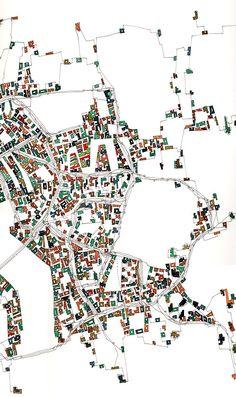 Tolérance géométrique aux limites d'une ville normale66x30cm drawing watercolor _ paper 102x66cm _Fabrice Clapiès
