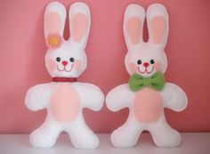 Faça um coelho da Páscoa de feltro e entre desde já no clima da Páscoa (Foto: Divulgação)