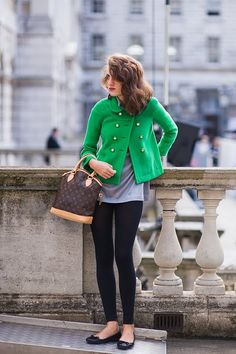 luv the Kelly Green pea coat omg so cute and w/ leggings in perfect for fall.