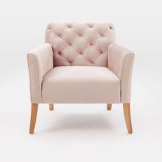Jessica Tremp's Studio blush west elm velvet chair   home decor   interiors