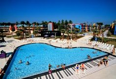 Piano-shaped pool at Disney's All-Star Music Resort in Orlando, Florida