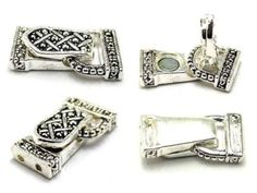 Clasp shipment in!!  Foldover clasps marcasite style magnetic closure Silver 1926 - Mobile Boutique