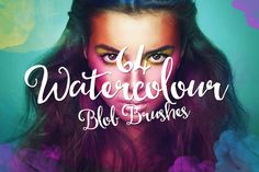 64 Watercolor Blob Brushes by Layerform on Creative Market