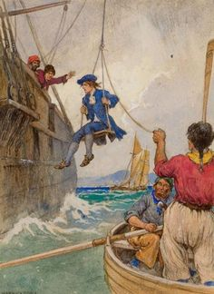 "Warwick Goble - ""Kidnapped"", story illustration,..."