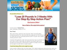 Extreme Weight Loss Secrets