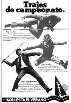 Publicidad Taurina años 80. Corte Inglés