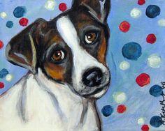 Jack Russell Terrier portrait original dog by petartbyangie