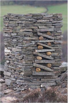 stacked stone cairn by escher land art Land Art, Stone Cairns, Rock Sculpture, Rock And Pebbles, Dry Stone, Garden Art, Garden Studio, Garden Design, Stone Work