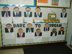Dare To Dream MLK Jr Seasonal Bulletin Boards, Dares, Jr, Seasons, Frame, Picture Frame, Seasons Of The Year, Frames