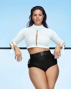 Ashley Graham's Body Revolution Has Only Just Begun | SELF Plus Zise, Mode Plus, Plus Size Bikini, Plus Size Swimsuits, Modelo Ashley Graham, Plus Size Fashion, High Fashion, Body Revolution, Jonathan Simkhai