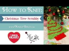 Tutorial Christmas Tree Knitting Super Easy! - YouTube
