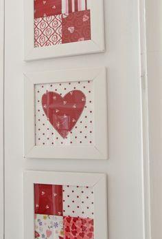 Valentines Day quilt decor <3