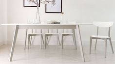 Aver Grey and White Extending Dining Table £449.00