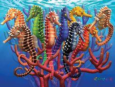 Seahorses - 550 Puzzle-White Mountain Puzzles