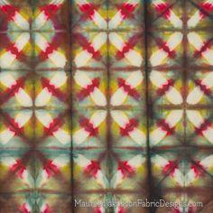 Multicolored Clamp Resist Shibori by Maureen Jakubson
