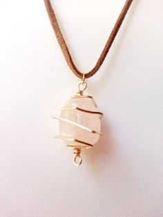 Free Jewelry Giveaway - Rose Quartz Pendant on Brown Suede Beautiful Roses, Brown Suede, Rose Quartz, Giveaway, Arrow Necklace, Jewelry Design, Pendant, Handmade, Free