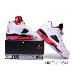 3d55534d374f Air Jordan Retro 5 Low Fire Red White Fire Red Black New Style