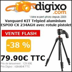 #missbonreduction; Vente flash: 38% de réduction sur Vanguard KIT Trépied aluminium ESPOD CX 234AGH avec rotule pistolet. http://www.miss-bon-reduction.fr//details-bon-reduction-Digixo-i100-c1836494.html