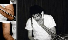 A great picture showing Michael Jackson's vitiligo. ~No make up on here. ~M