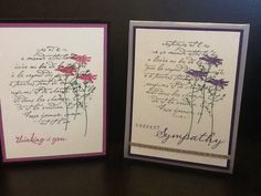 Stampin Up - Of The Earth with En Francais background