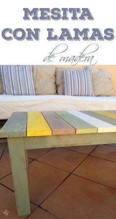 Como hacer una mesita con lamas de madera y un poco de pintura