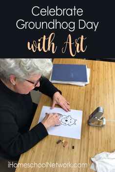 Celebrate Groundhog Day with Art Free art tutorial Winter Activities For Kids, Art Activities, Homeschool Curriculum, Homeschooling, Homeschool Books, Groundhog Day, Spring Art, Winter Art, Teaching Art