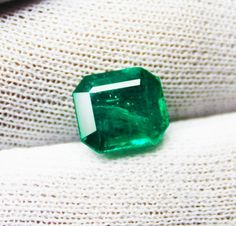 4.41 Ct Fine Natural Emerald  Octagon Zambia UnTreated LooseGem Stone #RareGemIN