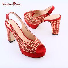 29b07b3276f174 WesternRain 2017 Hot Sale Black Red Luxury Rhinestones 11.5cm Heels Wedge  Buckle Sandals