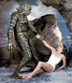 Julie Adams pictured here in The Creature from The Black Lagoon (1954).