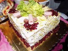 Αλμυρή τούρτα Vanilla Cake, Cheesecake, Appetizers, Desserts, Food, Tailgate Desserts, Snacks, Meal, Cheese Cakes