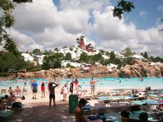 In addition to four theme parks, the Walt Disney World Resort also offers two water parks: Typhoon Lagoon and Blizzard Beach. Both of these water parks boast unique themes and, in true Disney fashion, a great story! Blizzard Beach, however, just