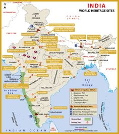 Map of world heritage sites in india india pinterest heritage map of world heritage sites in india gumiabroncs Gallery
