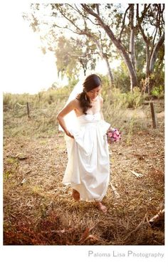 Country Love - Wedding Gown In Dupioni Silk - love everything about this, the dress, the shoes