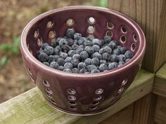 Handmade Ceramic Berry Strainer