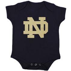 Notre Dame Fighting Irish Infant Navy Blue Primary Logo Creeper