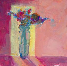 Robert Burridge; wonderful colors. Floral Study 72