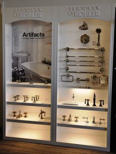 Create a look that is all your own with Kohler's Artifacts collection. -displayed at our Ferguson Sacramento Showroom Master Bedroom Bathroom, Modern Master Bathroom, Cozy Bathroom, Light Bathroom, Bathroom Showrooms, Bathroom Renovations, Bathrooms, Best Kitchen Design, Contemporary Baths