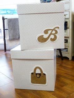 cajas para el armario de Belén