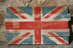 Handpainted Reclaimed Wooden Union Jack Sign. $55.00, via Etsy.