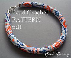 Patrón de collar de abalorios de ganchillo por BeadedTreasury