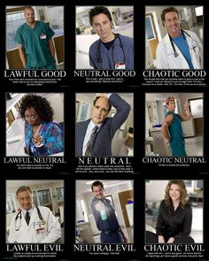 Scrubs Alignment Chart - Nifty mashup, although I am tempted to push Dorian down to Neutral and replace him with Turkleton and slot Carla into Lawful Good. Best Tv Shows, Best Shows Ever, Movies And Tv Shows, Favorite Tv Shows, Turk And Jd, Scrubs Tv Shows, Pop Culture References, Me Tv, Superman