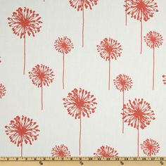 Perhaps for cafe curtains in the kitchen? Premier Prints Dandelion White/Coral