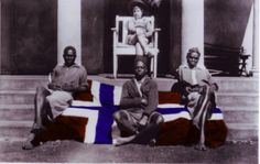 Bjørn Eriksen and three of the houseboys at Njuno Estate in the White Highlands of Kenya in the late 1920s. Bjørn's father, Eivind Eriksen, was a Krag agent in Kenya from 1912 to 1958.