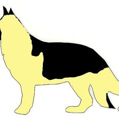 german shepherd black and cream silhouette