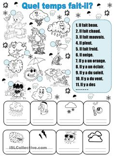 Printing Pattern Shape Learn French Videos For Travel French Flashcards, French Worksheets, French Teaching Resources, Teaching French, How To Speak French, Learn French, Weather Worksheets, French For Beginners, Core French