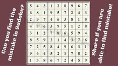 Can you spot the logical mistake in this Sudoku puzzle? Hard Puzzles, Sudoku Puzzles, Kids Puzzles, Brain Yoga, Fun Brain, Daily Puzzle, Play Puzzle, Online Puzzle Games, Printable Puzzles For Kids